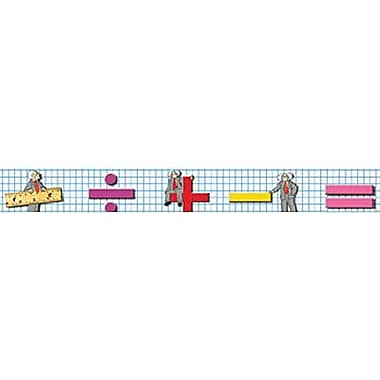 McDonald Publishing® 4th - 9th Grades Straight Bulletin Board Border, Mathematics Brainy