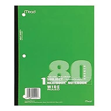 Mead® Glued Wide Ruled Wireless Neatbook, 10 1/2in.(H) x 8in.(W)