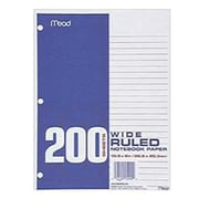 Mead® Wide Ruled Notebook Filler Paper, 10 1/2 x 8
