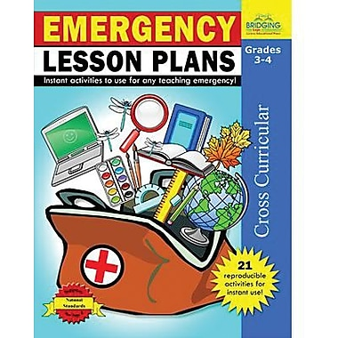 Milliken & Lorenz Educational Press Emergency Lesson Plans Reproducible Book, Grades 3rd - 4th