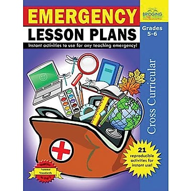 Milliken & Lorenz Educational Press Emergency Lesson Plans Reproducible Book, Grades 5th - 6th