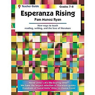 ECS Learning Systems Novel Units Esperanza Rising Book, Grades 7th - 8th