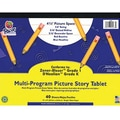 Pacon® Zaner-Bloser™ D'Nealian™ Multi-Program Picture Story Tablet Paper, Grades Kindergarten - 1st