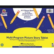 Pacon® Zaner-Bloser™ D'Nealian™ Multi-Program Picture Story Tablet Paper, Grades 1st - 3rd