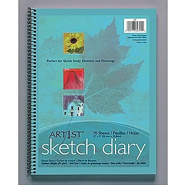 Pacon® Art1st® White Sketch Paper Diary, 9in. x 6in.