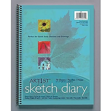 Pacon® Art1st® White Sketch Paper Diary, 12in. x 9in.