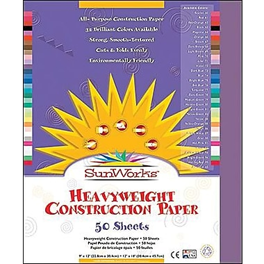Pacon® SunWorks® Groundwood Construction Paper, Violet, 9in.(W) x 12in.(L), 50 Sheets