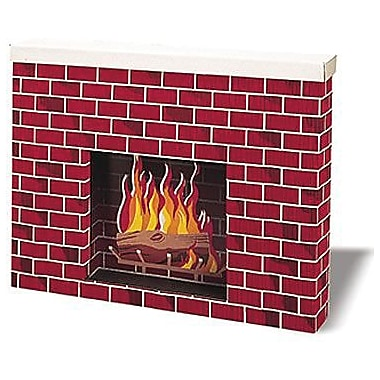 Pacon® Corobuff® Background Paper Roll, Corrugated Fireplace