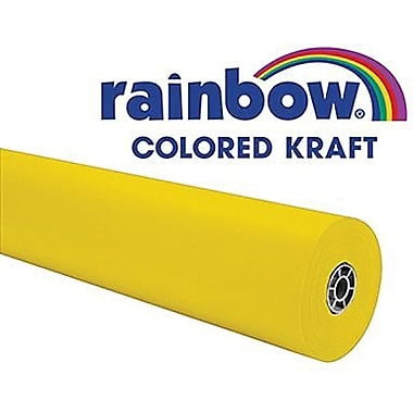 Pacon® Rainbow® 100' x 36in. Colored Kraft Paper Roll, Canary