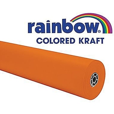 Pacon® Rainbow® 100' x 36in. Colored Kraft Paper Roll, Orange
