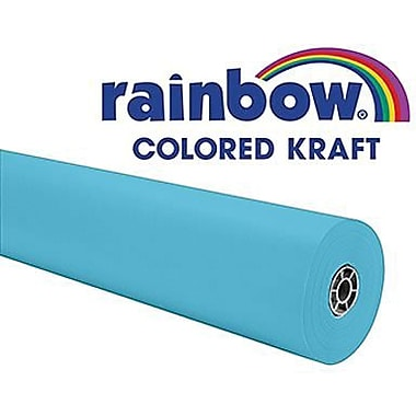 Pacon® Rainbow® 100' x 36in. Colored Kraft Paper Roll, Sky Blue