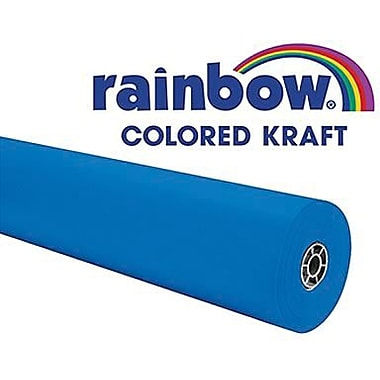 Pacon® Rainbow® 100' x 36in. Colored Kraft Paper Roll, Brite Blue
