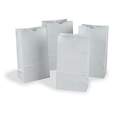 Pacon® Rainbow® 3 15/16in. x 7 1/8in. Colored Kraft Paper Bag, White, 50/Pack