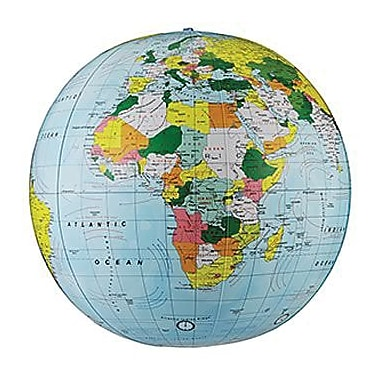 Replogle Globe® Political Inflate-A-Globe, Light Blue, 12in.