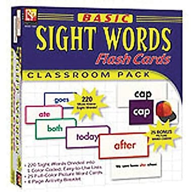 Remedia® Basic Sight Words Flash Cards, Grades 1st - 7th