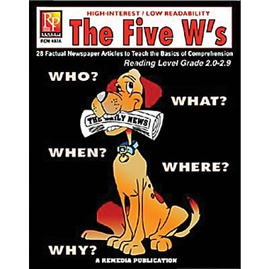 Remedia® The Five W's Book, Grades 4th - 12th