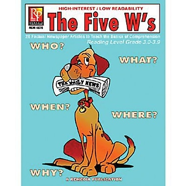 Remedia® The Five W's Book For Reading Level 3, Grades 4th - 12th