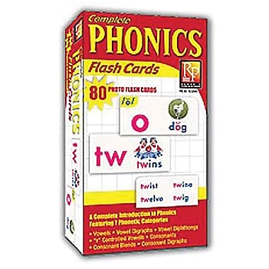 Remedia® Phonics Photo Flash Cards, Grades 1st -7th