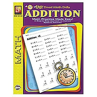 Remedia® Addition Easy Timed Math Drills Book, Grades 1st - 2nd