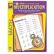 Remedia® Multiplication Easy Timed Math Drills Book, Grades 1st - 3rd