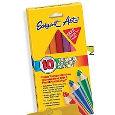 Sargent Art® 7in. Colored Pencil, Triangle, Assorted, 10/Box