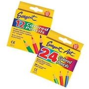 Sargent Art® 3 1/2 Colored Pencil, Assorted, 12/Box