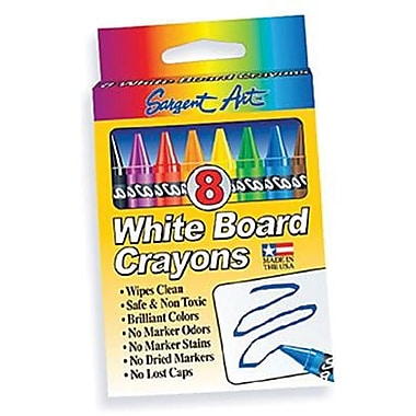 Sargent Art® Large Whiteboard Crayon, 8/Box
