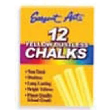 Sargent Art® 3 1/4in. Dustless School Chalks, Yellow