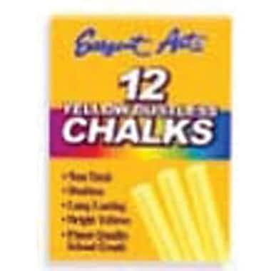 Sargent Art® 3 1/4in. Dustless School Chalks, Yellow