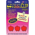 StikkiWorks® Removable Reusable Stikkiclips, Apple Shapes, 6/Pack