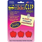 StikkiWorks® Removable Reusable Stikkiclips, Apple Shapes, 6/Pack