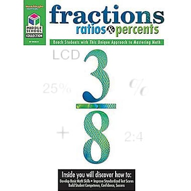 Houghton Mifflin® Math Student Edition Fractions, Ratios and Percents Book, Grades 5th - 8th