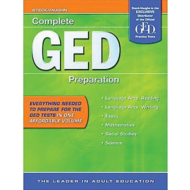 Houghton Mifflin® Complete GED Preparation Book, Level 8 - 12