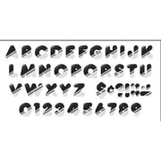 "Trend Enterprises® Casual Ready Letter, 4"", Silver"