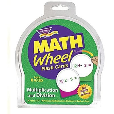 Trend Enterprises® Math Wheel® Flash Cards, Multiplication and Division