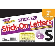 "Trend Enterprises® STICK-EZE® 2"" Letter and Mark Set, Black"