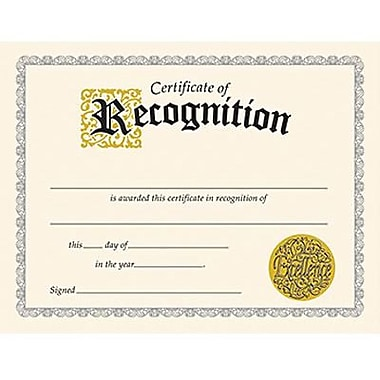 Trend Enterprises® Black Border Certificate of Recognition, 8 1/2in.(L) x 11in.(W)