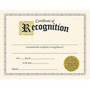 "Trend Enterprises® Black Border Certificate of Recognition, 8 1/2""(L) x 11""(W)"