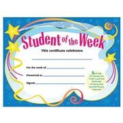 Trend Enterprises® Student of The Week Certificate, 8 1/2(L) x 11(W)