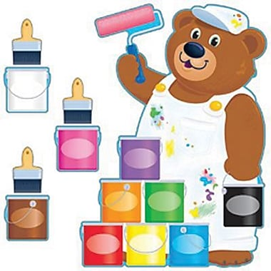 Trend Enterprises® Bulletin Board Set, Painter Bear Job Chart