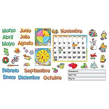 Trend Enterprises® Bulletin Board Set, Spanish Monthly Calendar