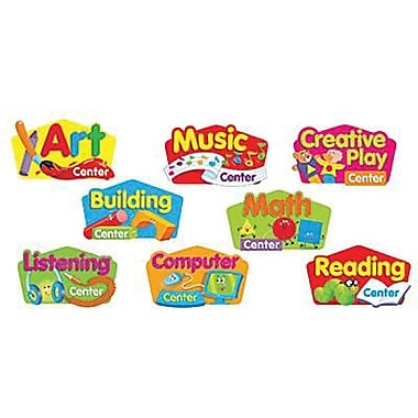 Trend Enterprises® Mini Bulletin Board Set, Primary Center Signs
