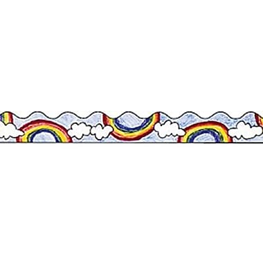 Trend Enterprises® Pre Kindergarten - 9th Grades Scalloped Terrific Trimmer, Rainbow