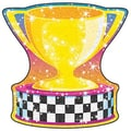 Trend Enterprises® pre-kindergarten - 3rd Grades Classic Accents®, Racing Trophy Sparkle