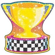 Trend Enterprises® Pre-Kindergarten - 3rd Grades Classic Accents®, Racing Trophy Sparkle