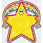 "TREND T-10107 6"" DieCut Classic Rainbow Star Accents, Yellow"