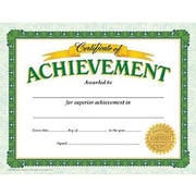 Trend Enterprises® Certificate of Achievement, 8 1/2(L) x 11(W), Grades 2nd - 9th