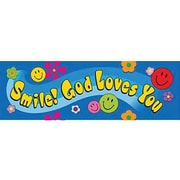 Trend Enterprises® Smile God Loves You Bookmark, Grades Kindergarten - 9th
