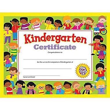 Trend Enterprises® Kindergarten Diploma Certificate, 8 1/2in.(L) x 11in.(W)