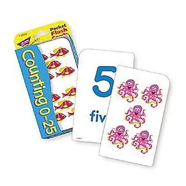 Trend Enterprises® Pocket Flash Cards, Counting 0 - 25